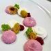 -Cheesecake salata bigusto con gelè di raparossa, porro grigliato e spugna di prezzemolo  - - - Fotografia inserita il giorno 13-04-2021 alle ore 22:46:27 da pasqualefranzese