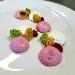 -Cheesecake salata bigusto con gelè di raparossa, porro grigliato e spugna di prezzemolo - - - Fotografia inserita il giorno 13-04-2021 alle ore 22:46:48 da pasqualefranzese