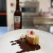 -Pancake con crema e salsa al cioccolato