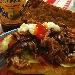 -Panino cafone con arrosto morto stracciato, servito con insalata e salse - - - Fotografia inserita il giorno 26-03-2020 alle ore 19:13:05 da pasqualefranzese