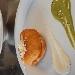 -Pizza imbottita fritta (a montanara mbuttit) con salsa al formaggio e piselli - - - Fotografia inserita il giorno 09-04-2020 alle ore 16:01:46 da pasqualefranzese