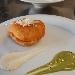 -Pizza imbottita fritta (a montanara mbuttit) con salsa al formaggio e piselli - - - Fotografia inserita il giorno 09-04-2020 alle ore 16:04:11 da pasqualefranzese