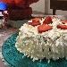 -Torta panna e fragole  - - -Torta panna e fragole - -la torta panna e fragole è costituita da due strati di pan di Spagna separati al centro, dove è presente uno strato di crema ed uno di fragole; inoltre la torta presenta uno strato di panna tutto intorno e sulla parte superiore, dove sono presenti altri spicchi di fragole.  - Fotografia inserita il giorno 26-05-2019 alle ore 17:07:52 da carmelaranieri