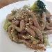 Trenette di barbabietole,broccoletti, gorgonzola  dolce e nocciole  tostate  - - - Fotografia inserita il giorno 27-01-2021 alle ore 11:52:17 da andreamango