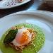 -Uova in CBT con crema di piselli, cipolle croccanti PAT sarde e bottarga del Sulcis - - - Fotografia inserita il giorno 24-07-2021 alle ore 07:16:37 da pasqualefranzese