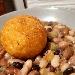-Zuppetta di legumi con sfera di riso al pecorino sardo e zafferano - - - Fotografia inserita il giorno 25-05-2020 alle ore 18:31:54 da pasqualefranzese