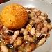 -Zuppetta di legumi con sfera di riso al pecorino sardo e zafferano - - - Fotografia inserita il giorno 25-05-2020 alle ore 18:32:07 da pasqualefranzese