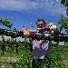 Davide Vignato con il nuovo vino Alba in vigna - - - Fotografia inserita il giorno 21-06-2021 alle ore 17:29:41 da luigi