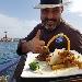 Lo Chef Daniele Unione mostra dei Ziti spezzati alla genovese - fotografia inviata da Cristina Vannuzzi   - Fotografia inserita il giorno 16-11-2019 alle ore 16:43:17 da luigi