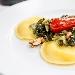 Ravioli con scarola, ricotta, pomodorino e Noci di Sorrento - - - Fotografia inserita il giorno 16-10-2020 alle ore 13:45:19 da lostuzzichino