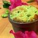 Soufflè monoporzione con fave, pecorino e miele