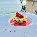 millefoglie di branzino e zucchine, con estratto di anguria e menta! - - - Fotografia inserita il giorno 19-11-2019 alle ore 18:55:17 da davideromanelli