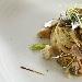Ricetta inserita su spaghettitaliani.com da Salvatore Gargiulo: Spaghettone con vongole veraci selvatiche, sarde marinate, lattuga di mare e tarallo