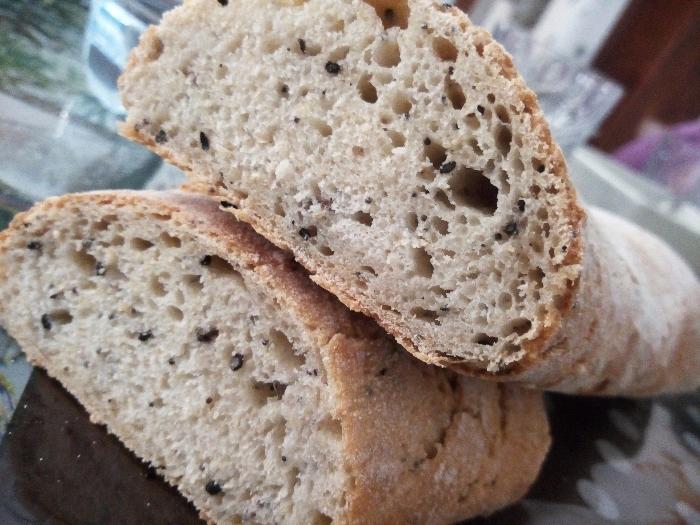 -Baguette di semola e farina integrale ai semi