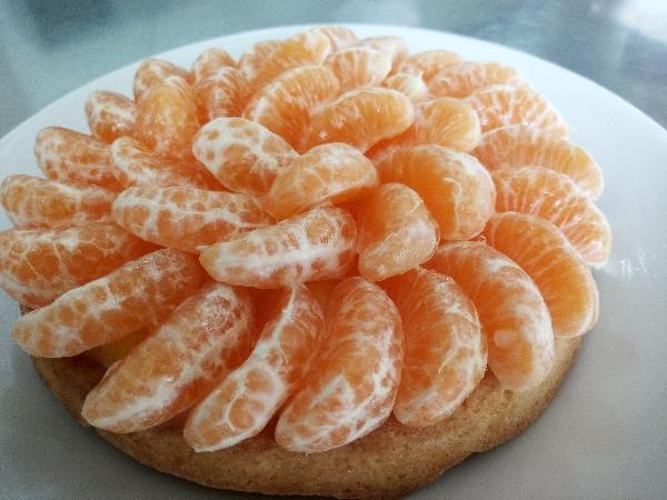 -Biscuit con crema classica e clementine