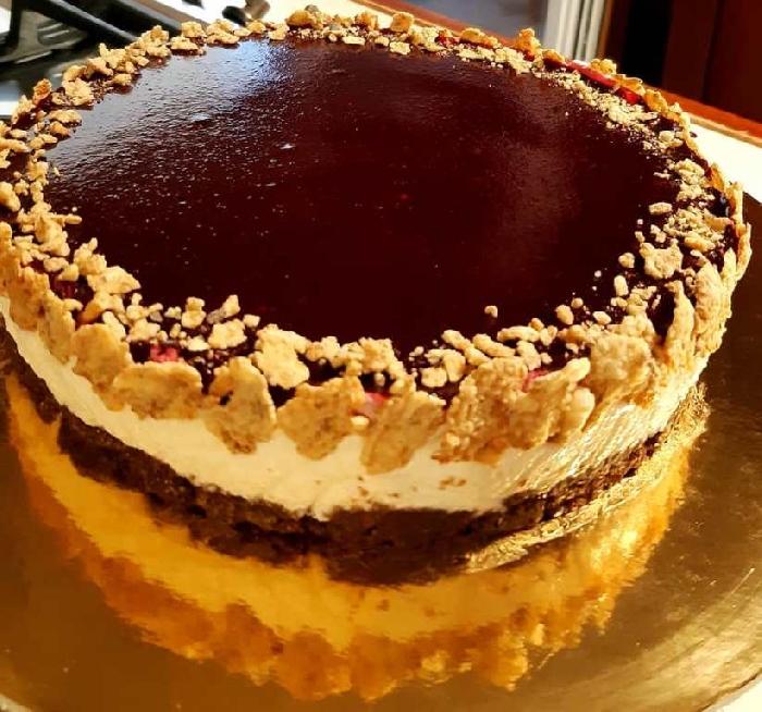 -Cheesecake ai frutti di bosco con cereali
