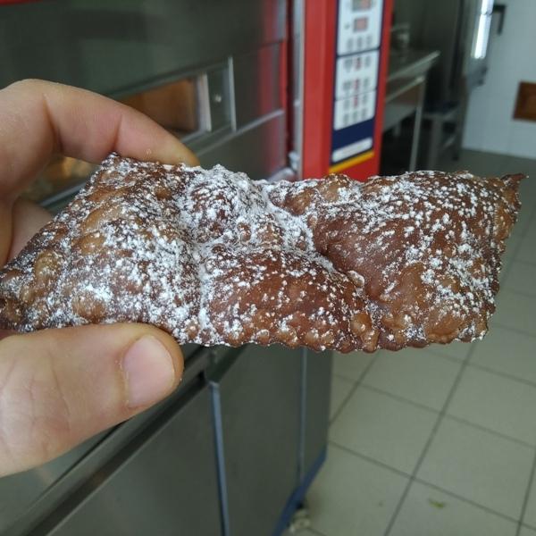 -Chiacchiera-buggia-frappa al cacao aromatizzata al grand-marnier