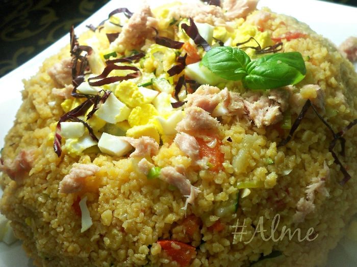 Ricetta inserita su spaghettitaliani.com da Almerindo Santucci: Cous cous di riso e mais alle verdure