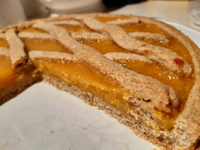 -Crostata integrale con marmellata d' arancia sarda