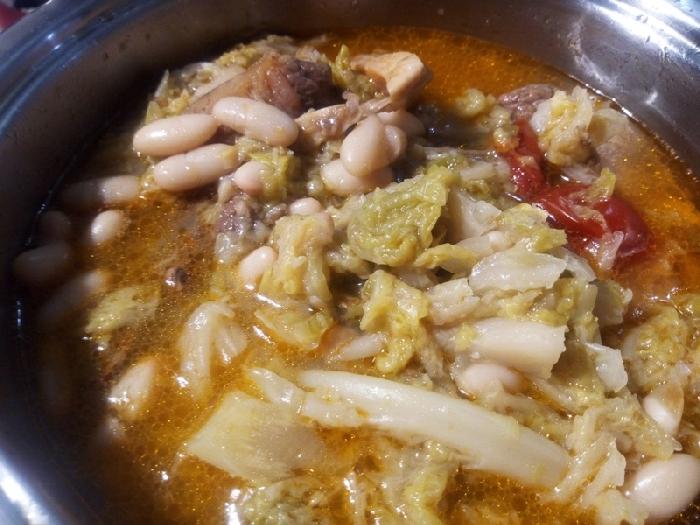 -Zuppa di verza con fagioli