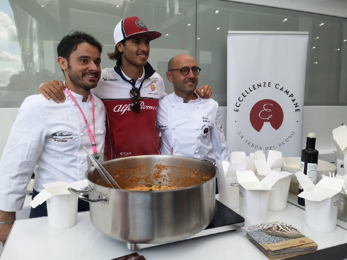 -cooking show Gp Monza Ferrari Eccellenze Campane