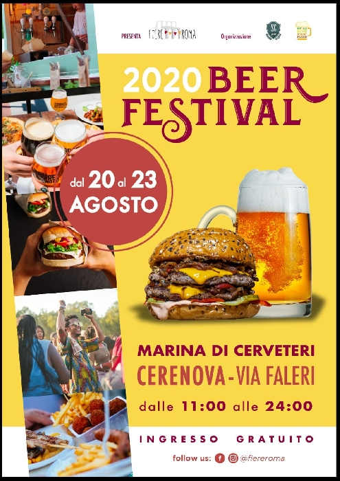 Dal 20 al 23 agosto - Marina di Cerveteri (RM) - 2020 Beer Festival