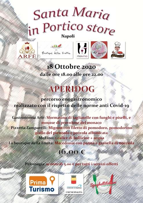 18/10 - Santa Maria in Portico - Napoli - APERIDOG - RINVIATO PER LE NUOVE DISPOSIZIONI ANTI-COVID