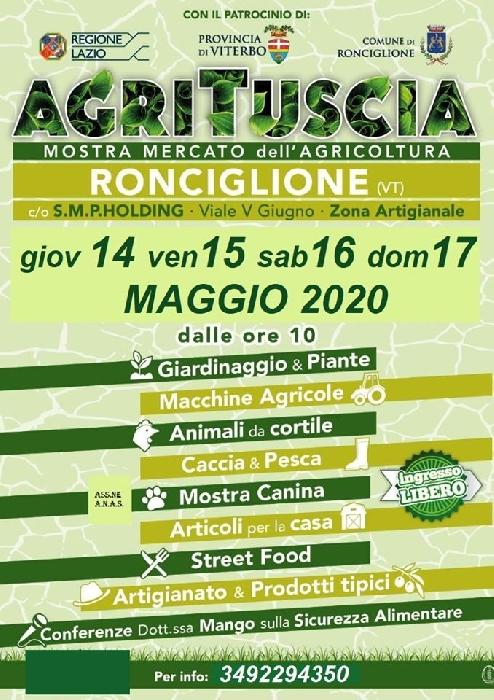 Dal 14 al 17 Maggio - Ronciglione (VT) - AgriTuscia