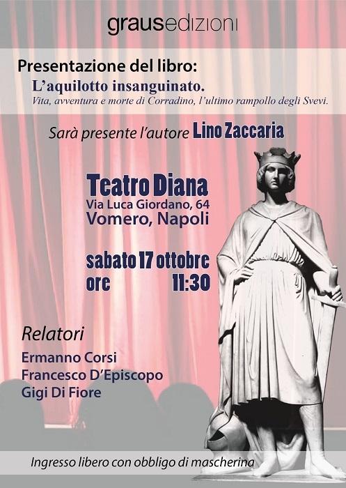 Sarà presentato sabato 17 ottobre alle 11.30 al Teatro Diana di Napoli in via Luca Giordano il libro di Lino Zaccaria L