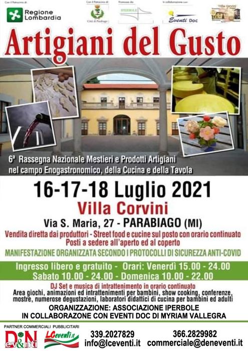 Dal 16 al 18 Luglio - Villa Corvini - Parabiago (MI) - Artigiani del Gusto
