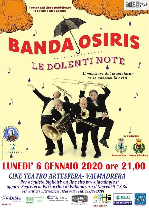 06/01 - Cine Teatro artesfera - Valmadrera (LC) - Banda Osiris in concerto