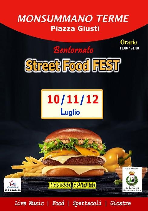 10, 11 e 12 luglio - Monsummano Terme (PT) - Piazza Giusti - Bentornato Street Food Fest