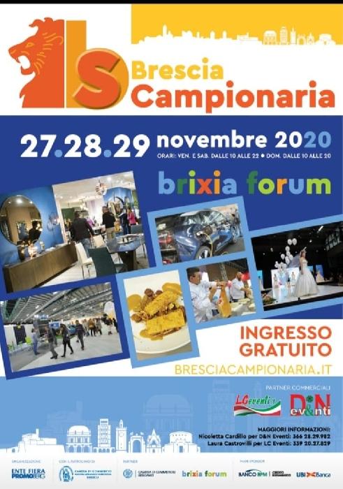 Dal 27 al 29 Novembre - Brizia Forum - Brescia Campionaria