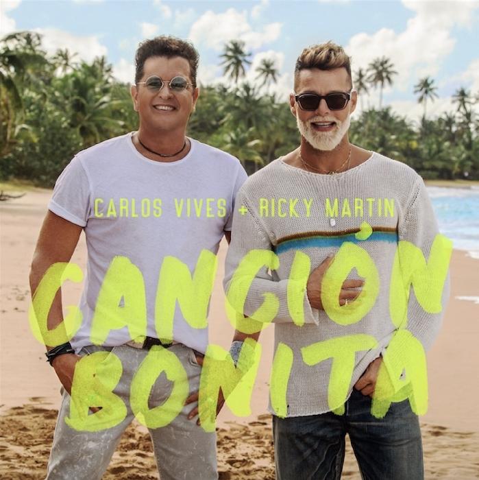CARLOS VIVES e RICKY MARTIN per la prima volta insieme nel nuovo singolo CANCIÓN BONITA, da ieri disponibile in digitale. Online anche il video ufficiale del brano