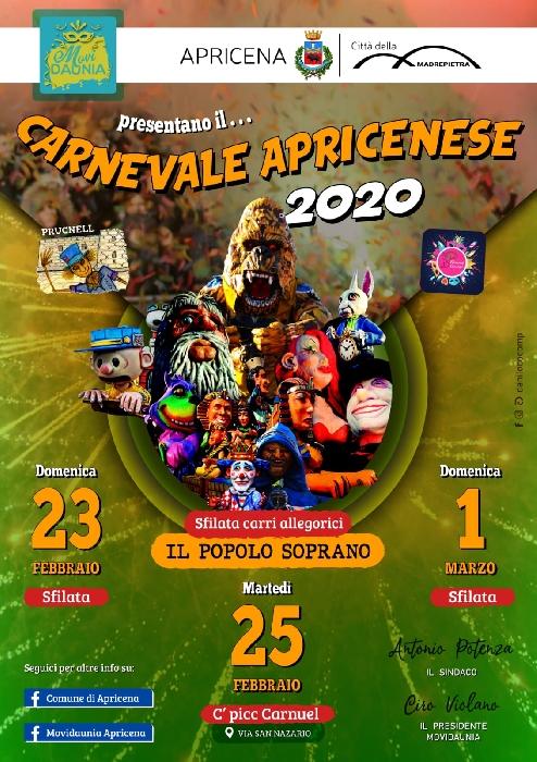23 e 25 Febbraio e 1° Marzo - Apricena (FG) - Carnevale Apricenese