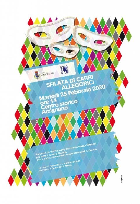 25/02 - Arzignano (VI) - Carnevale, sfilata carri allegorici