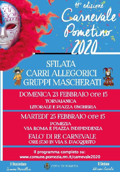 23 e 25 Febbraio - Pomezia (RM) - Carnevale Pometino