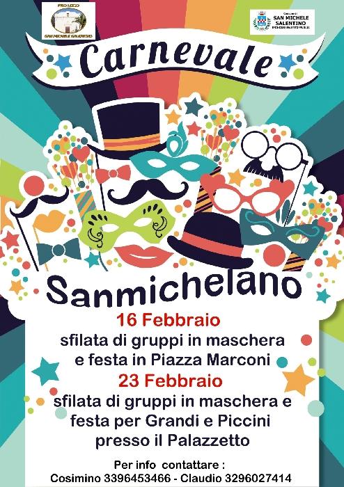 16 e 23 Febbraio - San Michele Salentino (BR) - Carnevale Sammichelano