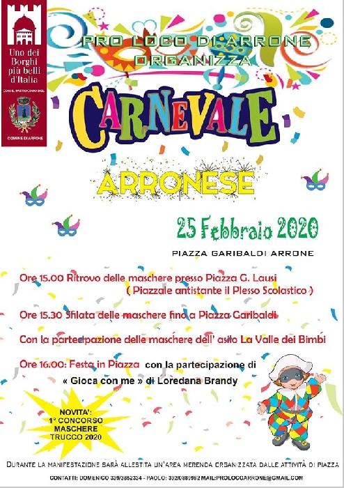 25/02 - Arrone (TR) - Carnevale Arronese