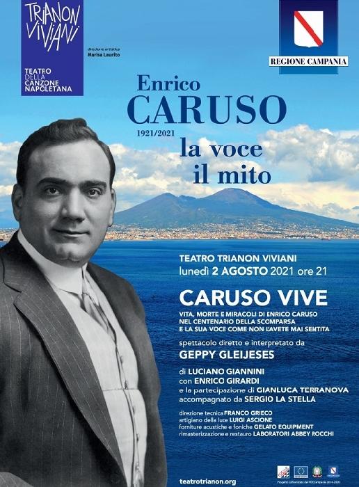 Caruso vive nel racconto di Geppy Gleijeses al Trianon Viviani, nel giorno del centenario della scomparsa, il teatro della Canzone napoletana ospita una serata/evento dedicata al grande cantante