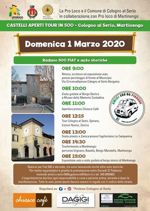 01/03 - Cologno in Serio (BG) - Castelli Aperti Tour in 500