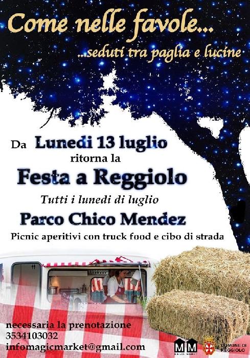 13, 20 e 27 Luglio - Parco Chico Mendez - Reggiolo (RE) - Come nelle favole... ...seduti tra paglia e lucine