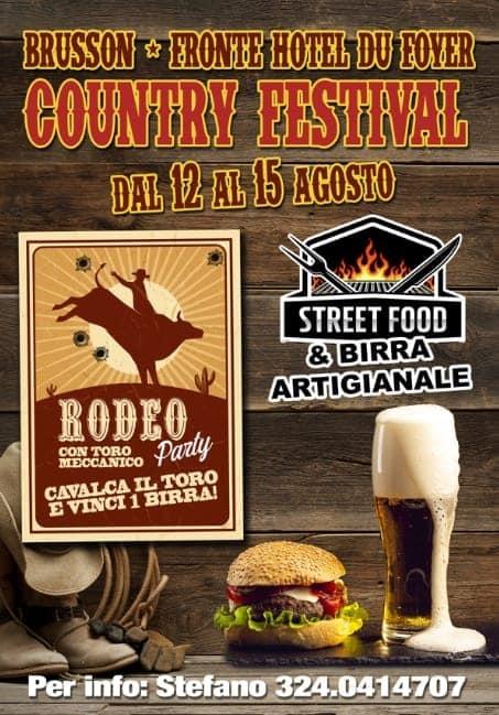 Dal 12 al 15 Agosto - Brusson (AO) - Country Festival