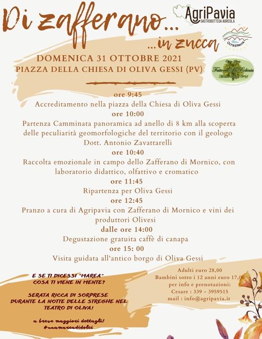 31/10 - Piazza della Chiesa di Oliva Gessi (PV) - Di zafferano... ...in zucca