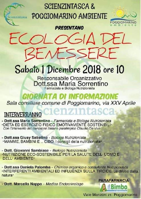 01/12-Sala Consiliare Comune di Poggiomarino (Sa)- Ecologia del Benessere, Giornata di informazione con la Dottoressa Maria Sorrentino