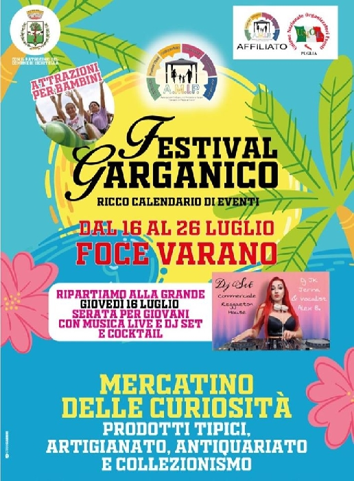 Dal 16 al 26 luglio - Foce Varano (FG) - Festival Garganico