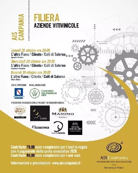 26, 28 e 30 Ottobre - Provincia di Salerno - Filiera Aziende Vitivinicole