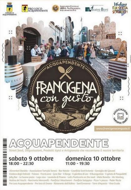 9 e 10 Ottobre - Acquapendente (VT) - Francigena con Gusto