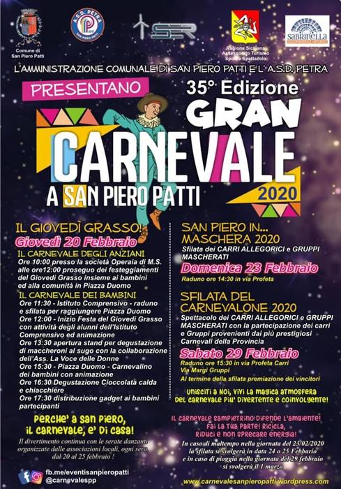 20, 23 e 29 Febbraio - San Pietro Patti (ME) - Gran Carnevale 2020