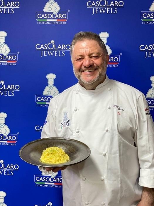 Gran Finale per Stellati per la Dad con lo chef stellato Peppe Guida, la classe più numerosa d